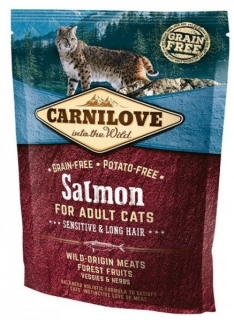 Carnilove Cat Salmon for Adult Sensitiv & Long Hair 400g