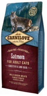 Carnilove Cat Salmon for Adult Sensitiv & Long Hair 6kg