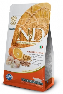 N&D LG CAT Adult Codfish & Orange 1,5kg