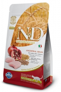 N&D LG CAT Neutered Chicken & Pomegranate 1,5kg