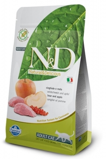 N&D GF CAT Adult Boar & Apple 1,5kg