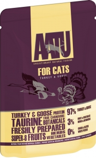 AATU Cat Turkey and Goose kapsička 85g