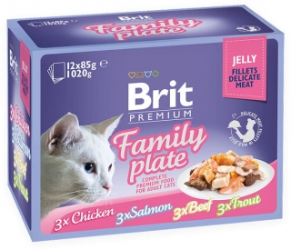 Brit Premium Cat Pouch Family Plate Jelly 1020g