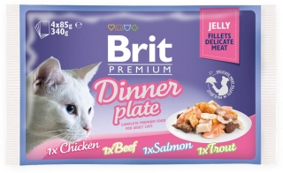 Brit Premium Cat Pouch Dinner Plate Jelly 340g