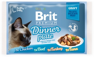 Brit Premium Cat Pouch Dinner Plate Gravy 340g