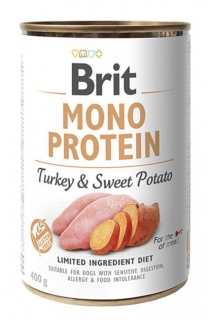 Brit Mono Protein - Turkey & Sweet Potato konzerva 400g