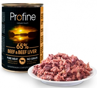 Profine Pure meat Beef & Beef Liver 400g