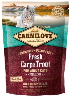 Carnilove Cat Fresh Carp & Trout Sterilised 400g