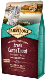 Carnilove Cat Fresh Carp & Trout Sterilised 2kg
