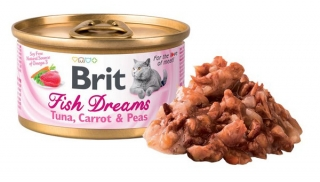 Brit Cat Fish Dreams Tuna , Carrot & Pea 80g