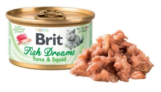 Brit Cat Fish Dreams Tuna & Squid 80g