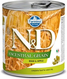 N&D DOG ANCESTRAL (LOW) GRAIN Adult Boar & Apple 285g