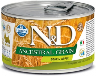 N&D DOG ANCESTRAL (LOW) GRAIN Adult Boar & Apple Mini 140g