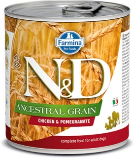 N&D DOG ANCESTRAL (LOW) GRAIN Adult Chicken & Pomegranate 285g