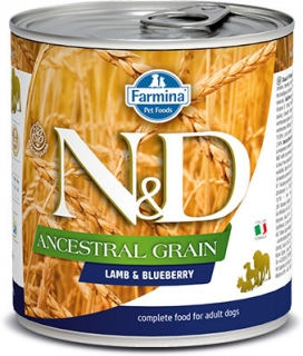 N&D DOG ANCESTRAL (LOW) GRAIN Adult Lamb & Blueberry 285g