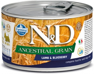 N&D DOG ANCESTRAL (LOW) GRAIN Adult Lamb & Blueberry Mini 140g