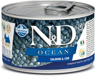 N&D DOG OCEAN Adult Salmon & Codfish Mini 140g