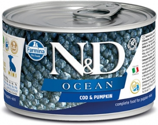 N&D DOG OCEAN Puppy Codfish & Pumpkin Mini 140g