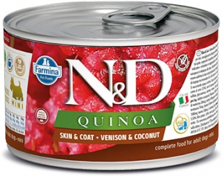 N&D DOG QUINOA Venison & Coconut Mini 140g