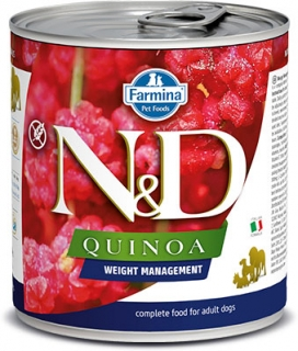N&D DOG QUINOA Weight Management Lamb & Brocolli 285g