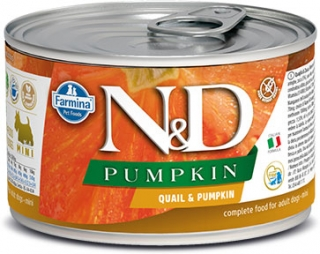 N&D DOG PUMPKIN Adult Quail & Pumpkin Mini 140g