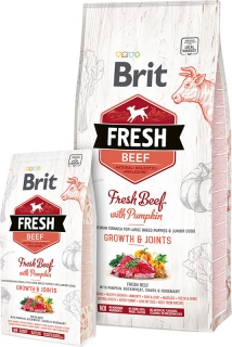 Brit Fresh Beef with Pumpkin Puppy Large Bones & Joints 12kg