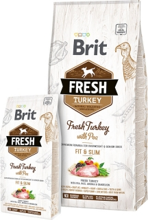 Brit Fresh Turkey with Pea Adult Fit & Slim 12kg