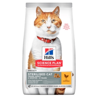 Hill's Fe SP Young Adult Sterilised Cat Chicken 3kg