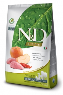 N&D Prime Dog Adult M/L Wild Boar and Apple 2,5kg