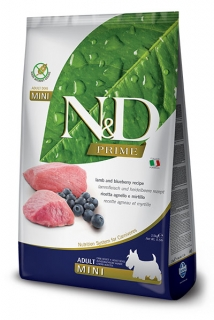 N&D Prime Dog Adult Mini Lamb and Blueberry 2,5kg