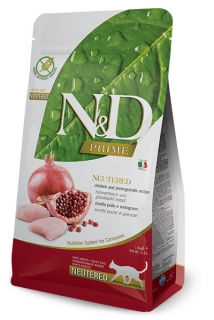 N&D Prime Cat Neutered Chicken and Pomegranate 1,5kg