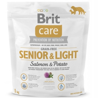 Brit Care Grain-free Senior&Light Salmon & Potato 1kg