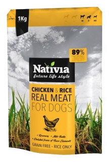Nativia Dog REAL MEAT chicken&rice 1kg
