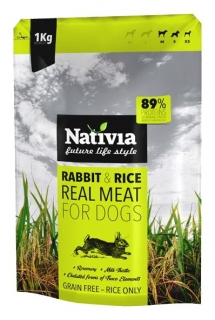 Nativia Dog REAL MEAT rabbit&rice 1kg