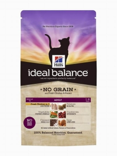 Hill's Feline Ideal Balance No Grain Adult - kuře a brambory 1,5kg