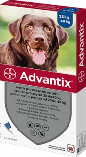 Advantix pro psy spot-on 25kg - 40kg 1x4ml (1 pipeta)